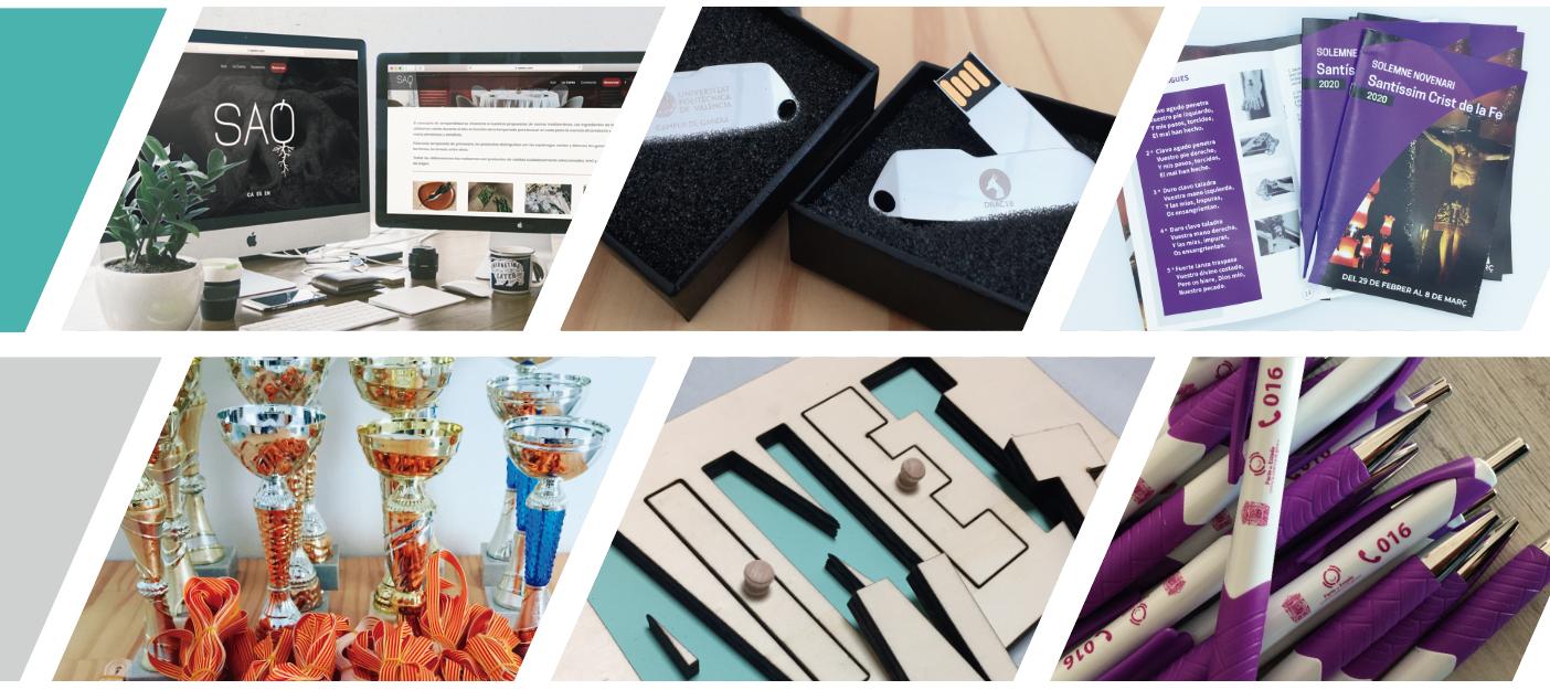 Retolació, disseny web, disseny gràfic, gravació i tall làser, Xusi Estudi Creatiu Quatretonda